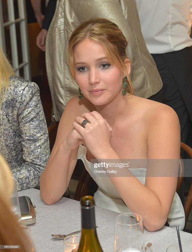 Actress <a gi-track='captionPersonalityLinkClicked' href=/galleries/search?phrase=Jennifer+Lawrence&family=editorial&specificpeople=1596040 ng-click='$event.stopPropagation()'>Jennifer Lawrence</a> attends the Vanity Fair, Barneys New York and The Weinstein Company celebration of 'Silver Linings Playbook' in support of The Glenholme School on February 20, 2013 in Los Angeles, California