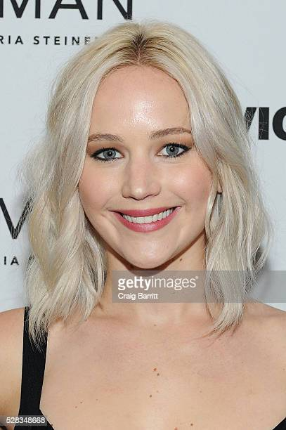Actress Jennifer Lawrence attends the VICELAND New York premiere screening of Gloria Steinem's 'Woman' on May 4 2016 in New York City