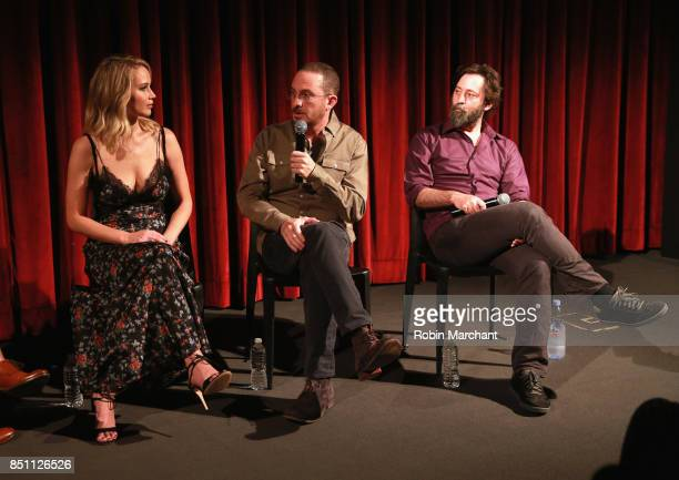 Actress Jennifer Lawrence director Darren Aronofsky and producer Ari Handel attend an official Academy screening of MOTHER hosted by The Academy of...