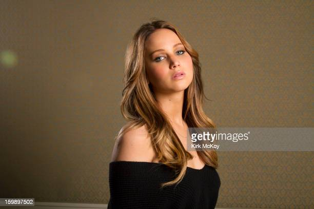 Actress Jennifer Lawrence is photographed for Los Angeles Times on January 17 2013 in Los Angeles California PUBLISHED IMAGE CREDIT MUST BE Kirk...