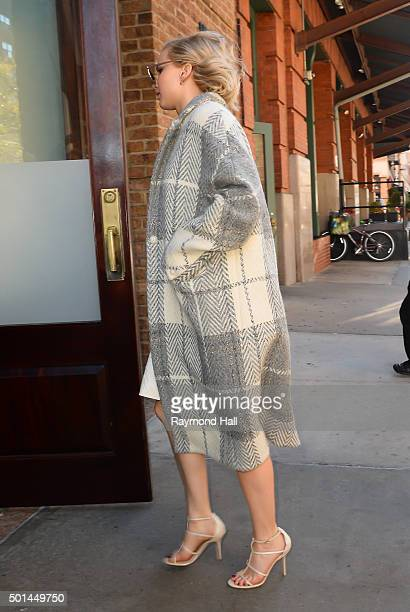 Actress Jennifer Lawrence is seen walking in Soho on December 15 2015 in New York City
