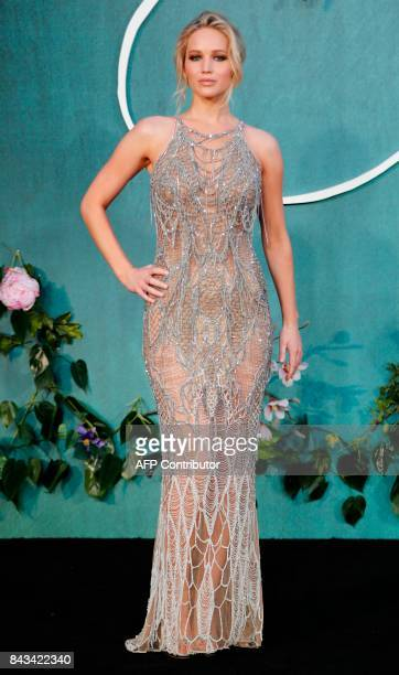 US actress Jennifer Lawrence poses for a photograph upon arrival for the UK premiere of the film 'Mother ' in London on September 6 2017 / AFP PHOTO...