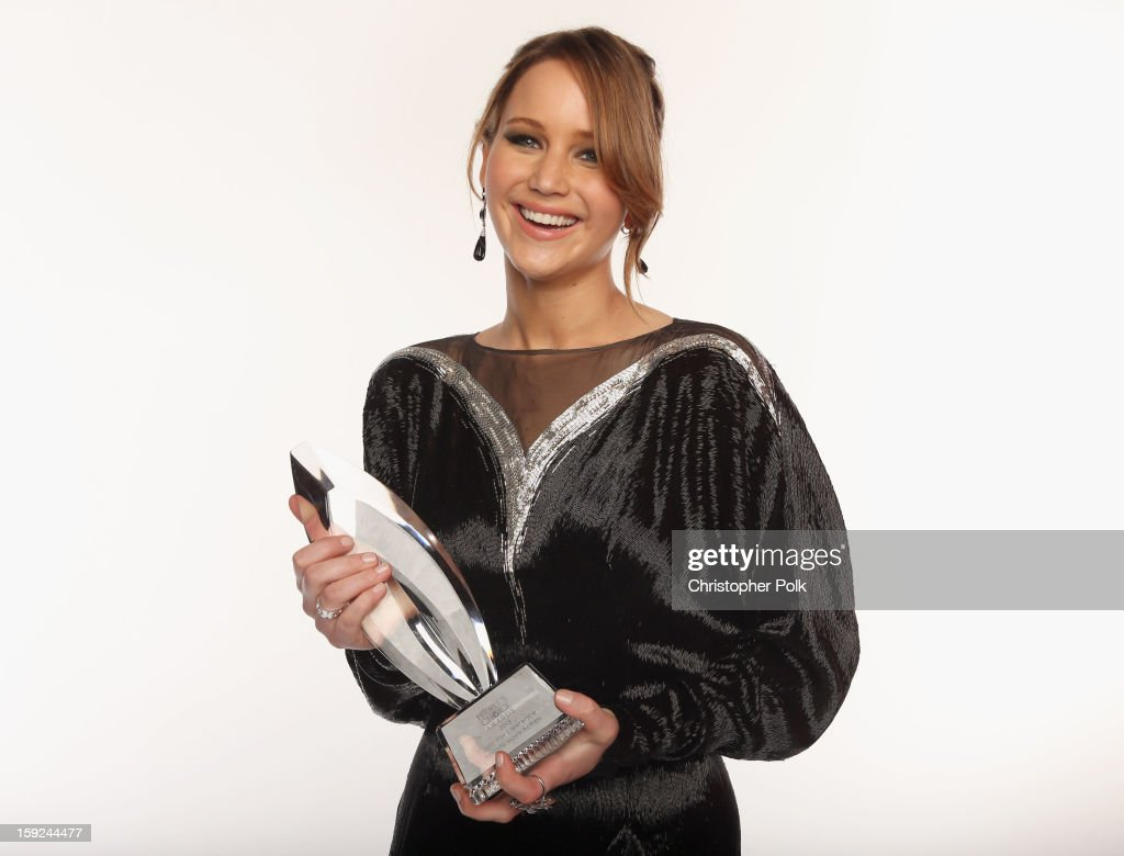 Actress <a gi-track='captionPersonalityLinkClicked' href=/galleries/search?phrase=Jennifer+Lawrence&family=editorial&specificpeople=1596040 ng-click='$event.stopPropagation()'>Jennifer Lawrence</a> poses for a portrait during the 39th Annual People's Choice Awards at Nokia Theatre L.A. Live on January 9, 2013 in Los Angeles, California.