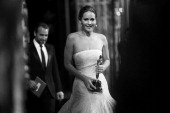 Actress Jennifer Lawrence winner of the award for Performance by an Actress in a Leading Role backstage during the Oscars held at the Dolby Theatre...
