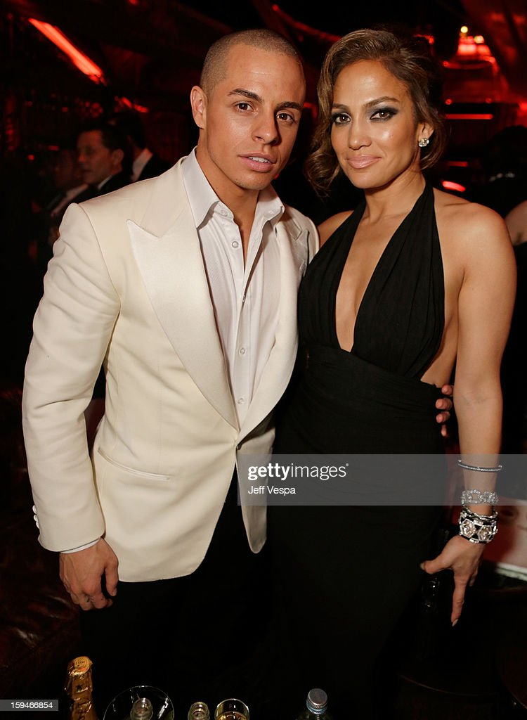 Actress Jennifer Lopez and Casper Smart attend the The Weinstein Company's 2013 Golden Globe Awards after party presented by Chopard HP Laura Mercier...