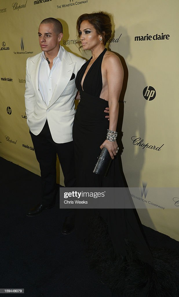 Actress Jennifer Lopez (R) and Casper Smart attend The Weinstein Company's 2013 Golden Globe Awards after party presented by Chopard, HP, Laura Mercier, Lexus, Marie Claire, and Yucaipa Films held at The Old Trader Vic's at The Beverly Hilton Hotel on January 13, 2013 in Beverly Hills, California.