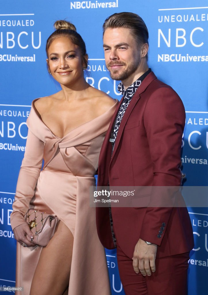 Actress Jennifer Lopez and dancer Derek Hough attend the 2017 NBCUniversal Upfront at Radio City Music Hall on May 15, 2017 in New York City.