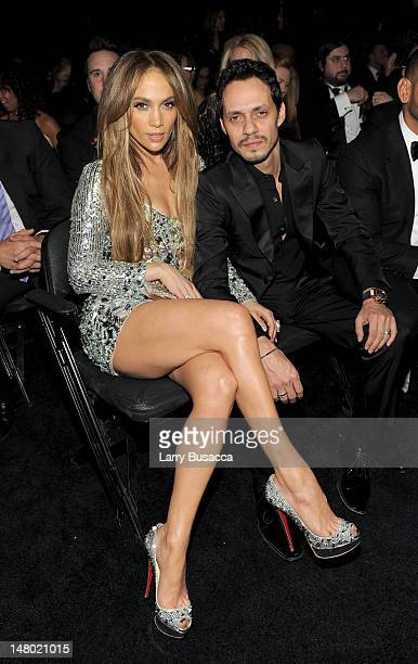 Actress Jennifer Lopez and singer Marc Anthony attend The 53rd Annual GRAMMY Awards held at Staples Center on February 13 2011 in Los Angeles...