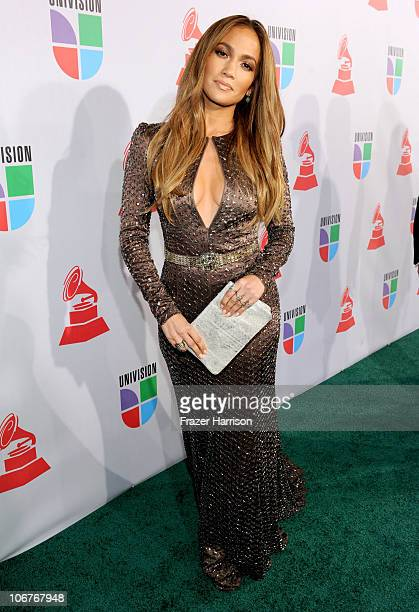 Actress Jennifer Lopez arrives at the 11th annual Latin GRAMMY Awards at the Mandalay Bay Resort Casino on November 11 2010 in Las Vegas Nevada