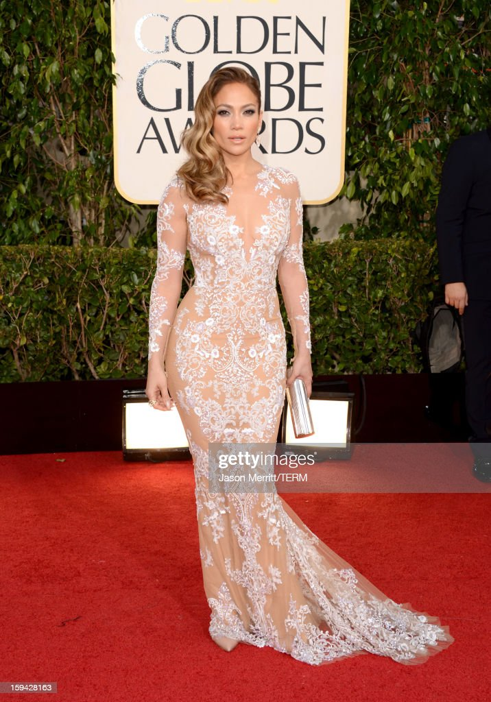 Actress Jennifer Lopez arrives at the 70th Annual Golden Globe Awards held at The Beverly Hilton Hotel on January 13 2013 in Beverly Hills California