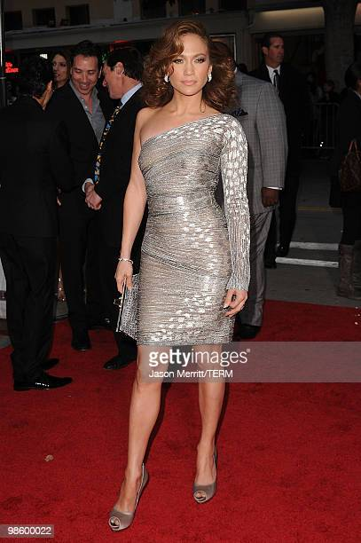 Actress Jennifer Lopez arrives at the premiere of CBS Films' 'The Backup Plan' held at the Regency Village Theatre on April 21 2010 in Westwood...