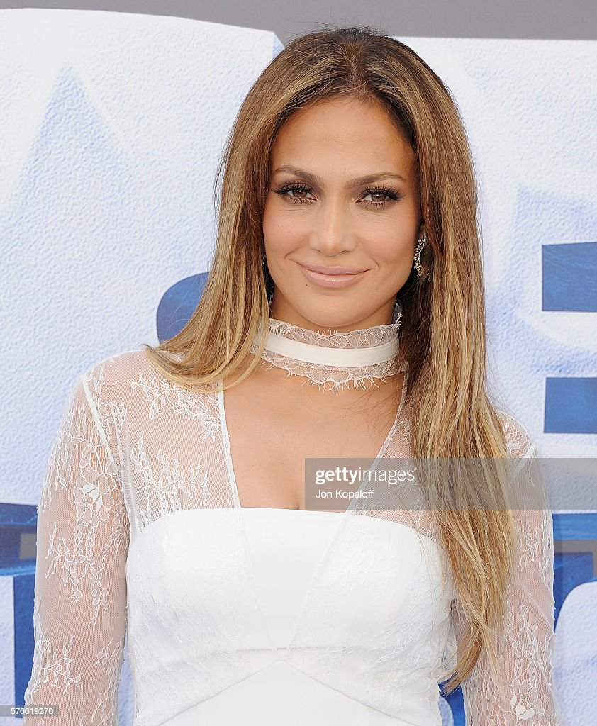 Actress Jennifer Lopez arrives at the screening Of 'Ice Age Collision Course' at Zanuck Theater at 20th Century Fox Lot on July 16 2016 in Los...