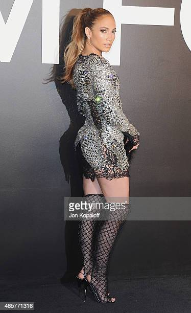 Actress Jennifer Lopez arrives at Tom Ford Autumn/Winter 2015 Womenswear Collection Presentation at Milk Studios on February 20 2015 in Los Angeles...
