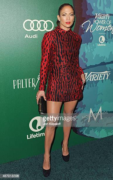 Actress Jennifer Lopez arrives at Variety's 2014 Power Of Women Event In LA Presented By Lifetime at the Beverly Wilshire Four Seasons Hotel on...