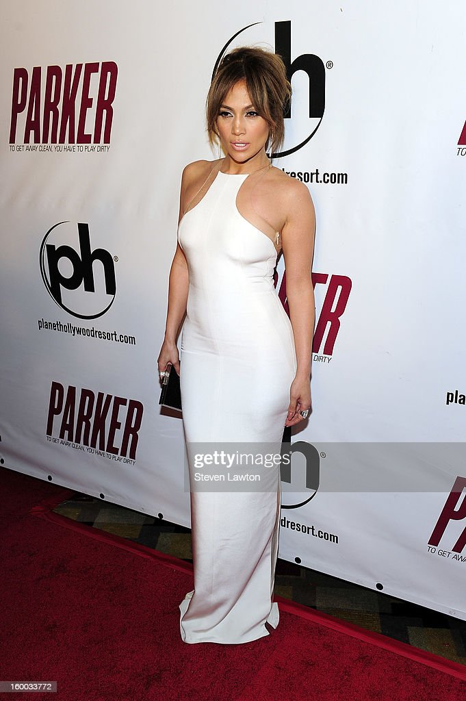 Actress Jennifer Lopez arrives for the premiere of FlimDistrict's 'Parker' at the Planet Hollywood Resort & Casino on January 24, 2013 in Las Vegas, Nevada.