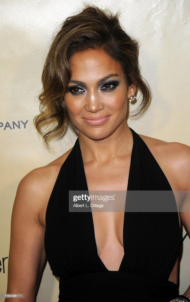 Actress <a gi-track='captionPersonalityLinkClicked' href=/galleries/search?phrase=Jennifer+Lopez&family=editorial&specificpeople=201784 ng-click='$event.stopPropagation()'>Jennifer Lopez</a> arrives for the Weinstein Company's 2013 Golden Globe Awards After Party - Arrivals on January 13, 2013 in Beverly Hills, California.