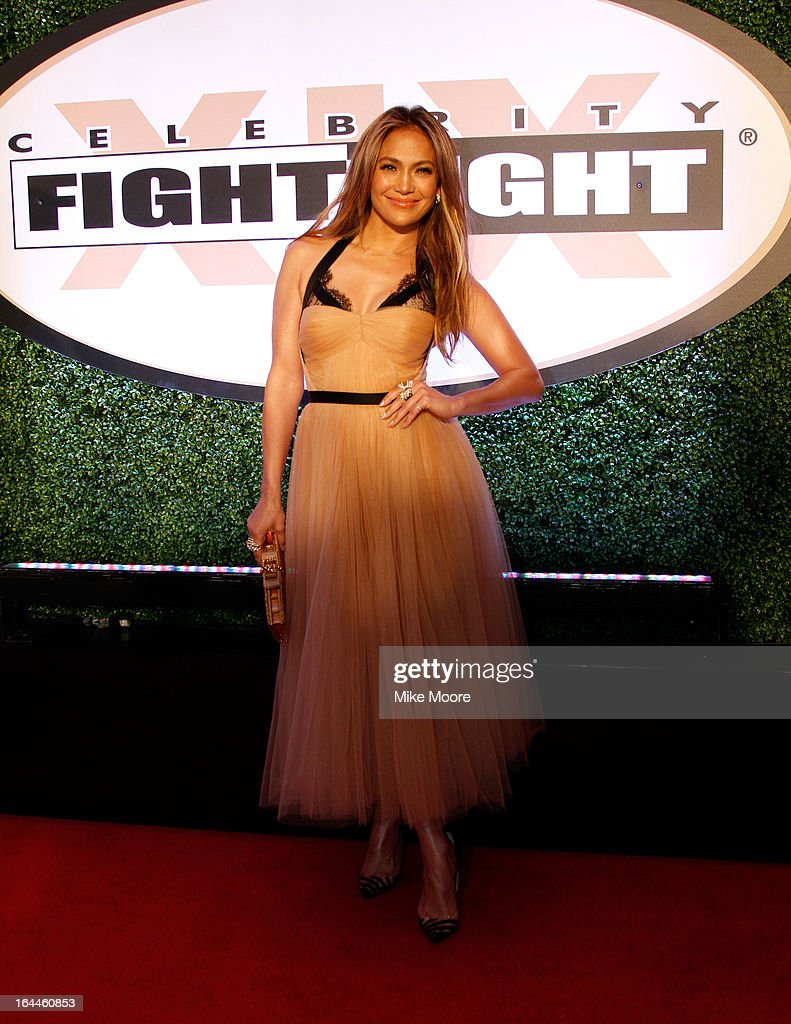 Actress <a gi-track='captionPersonalityLinkClicked' href=/galleries/search?phrase=Jennifer+Lopez&family=editorial&specificpeople=201784 ng-click='$event.stopPropagation()'>Jennifer Lopez</a> attends Muhammad Ali's Celebrity Fight Night XIX at JW Marriott Desert Ridge Resort & Spa on March 23, 2013 in Phoenix, Arizona.