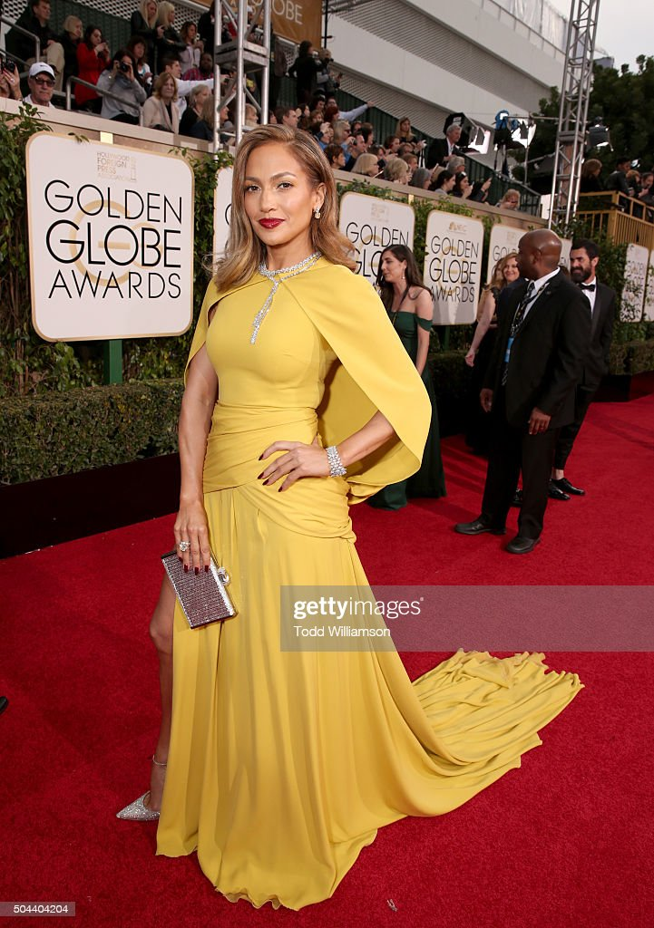Actress Jennifer Lopez attends the 73rd Annual Golden Globe Awards at The Beverly Hilton Hotel on January 10, 2016 in Beverly Hills, California.