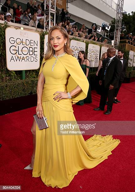 Actress Jennifer Lopez attends the 73rd Annual Golden Globe Awards at The Beverly Hilton Hotel on January 10 2016 in Beverly Hills California