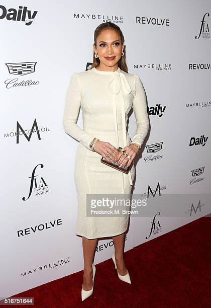 Actress Jennifer Lopez attends the Daily Front Row 'Fashion Los Angeles Awards' at Sunset Tower Hotel on March 20 2016 in West Hollywood California