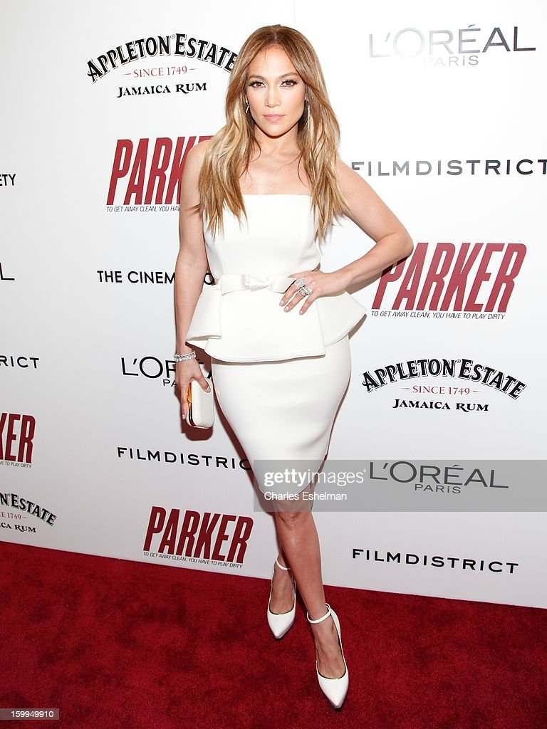 Actress Jennifer Lopez attends the FilmDistrict with The Cinema Society, L'Oreal Paris & Appleton Estate screening of 'Parker' at The Museum of Modern Art on January 23, 2013 in New York City.