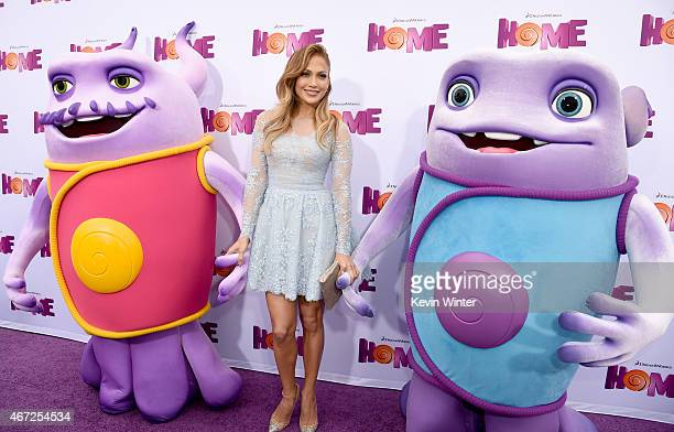 Actress Jennifer Lopez attends the premiere of Twentieth Century Fox And Dreamworks Animation's 'HOME' at Regency Village Theatre on March 22 2015 in...