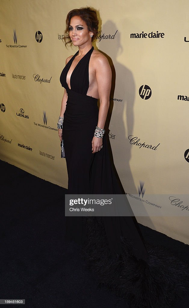 Actress Jennifer Lopez attends The Weinstein Company's 2013 Golden Globe Awards after party presented by Chopard, HP, Laura Mercier, Lexus, Marie Claire, and Yucaipa Films held at The Old Trader Vic's at The Beverly Hilton Hotel on January 13, 2013 in Beverly Hills, California.