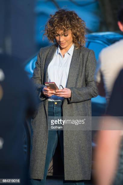 Actress Jennifer Lopez is seen while filming 'Shades of Blue' in Queens on May 17 2017 in New York City