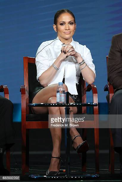 Actress Jennifer Lopez of the television show 'Shades of Blue' speaks onstage during the NBCUniversal portion of the 2017 Winter Television Critics...