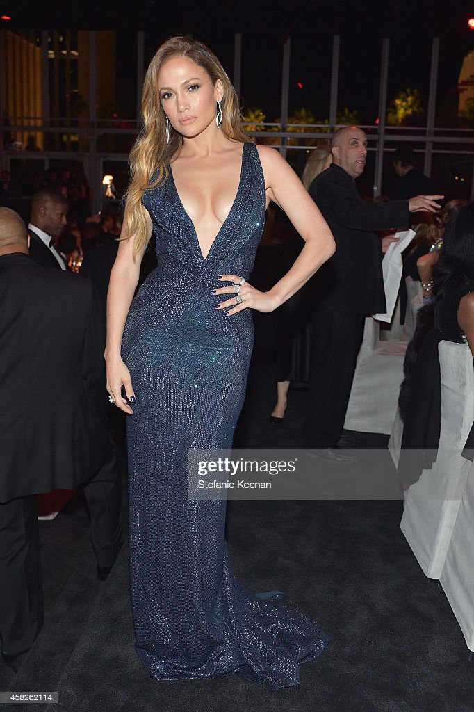 Actress Jennifer Lopez wearing Gucci attends the 2014 LACMA Art Film Gala honoring Barbara Kruger and Quentin Tarantino presented by Gucci at LACMA...