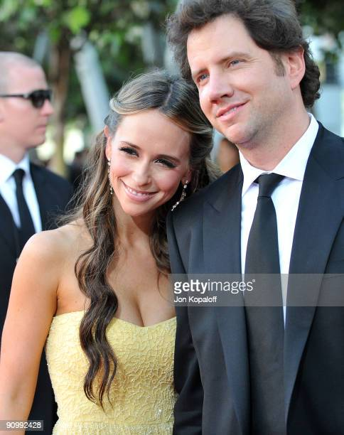 Actress Jennifer Love Hewitt and actor Jaime Kennedy arrives at the 61st Primetime Emmy Awards held at the Nokia Theatre LA Live on September 20 2009...