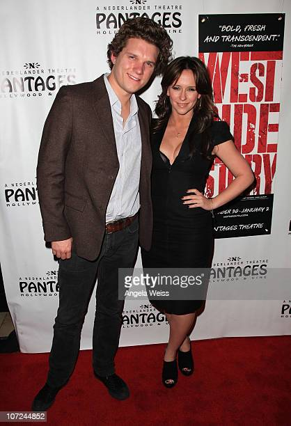 Actress Jennifer Love Hewitt and Jamie Kennedy attend the opening night of 'West Side Story' at the Pantages Theatre on December 1 2010 in Hollywood...