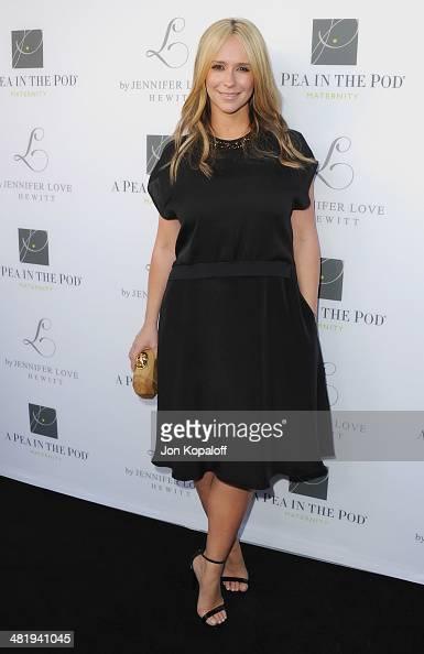 Actress Jennifer Love Hewitt arrives at A Pea In The Pod And Jennifer Love Hewitt Celebrate The Launch Of 'L By Jennifer Love Hewitt' at A Pea In The...