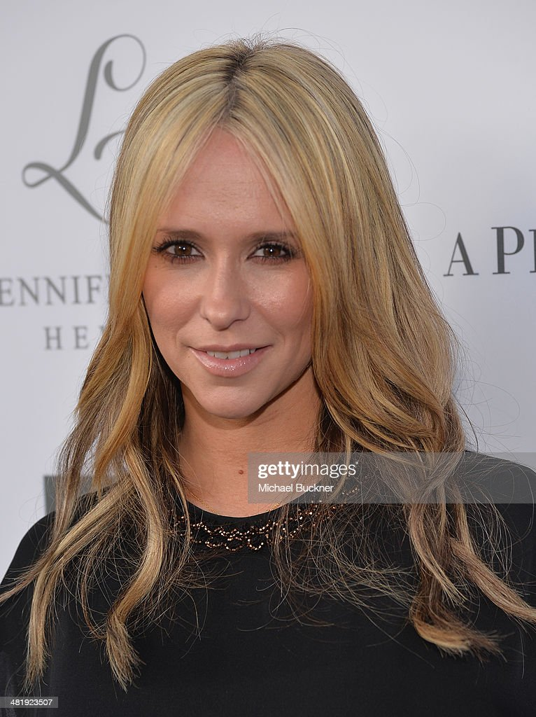 Actress Jennifer Love Hewitt arrives at the Launches of Jennifer Love Hewitt's new maternity line 'L by Jennifer Love Hewitt' at A Pea In The Pod on...