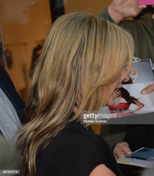 Actress Jennifer Love Hewitt arrives at the Launches of Jennifer Love Hewitt's new maternity line 'L by Jennifer Love Hewitt' at A Pea In The Pod on...