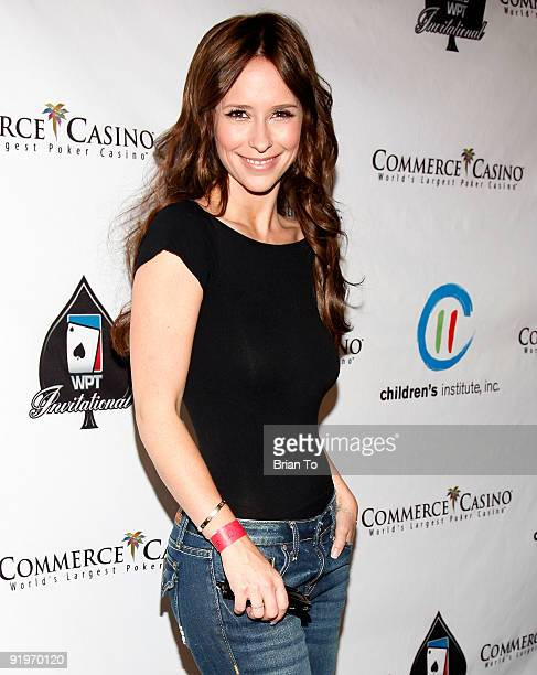 Actress Jennifer Love Hewitt attends Children's Institute Hosts 'Poker For A Cause' Celebrity Poker Tournament at Commerce Casino on October 17 2009...
