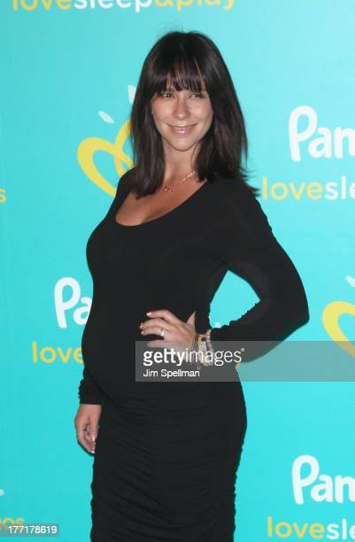 Actress Jennifer Love Hewitt attends the Pampers Love Sleep Play campaign launch at Vanderbilt Hall at Grand Central Terminal on August 21 2013 in...
