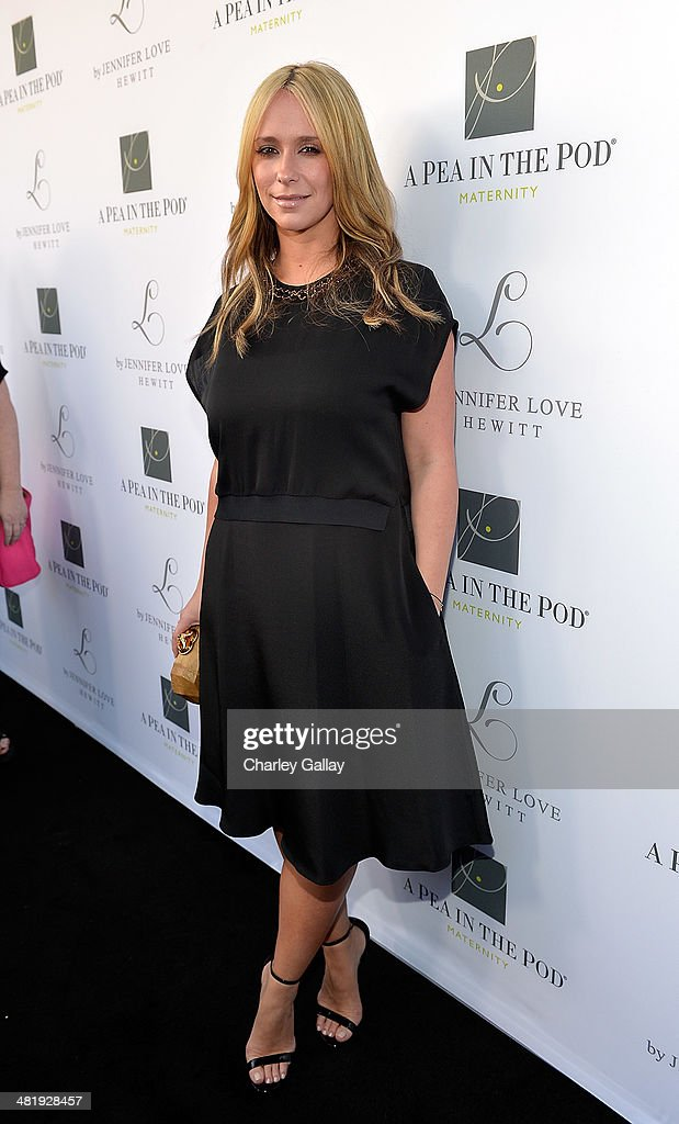 Actress Jennifer Love Hewitt celebrates the launch of her new maternity line 'L By Jennifer Love Hewitt' at A Pea In The Pod on April 1 2014 in...