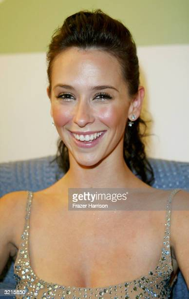 Actress Jennifer Love Hewitt is seen at the Distinctive Assets lounge for Nickelodeon's Kids' Choice Awards on April 3 2004 in Westwood California