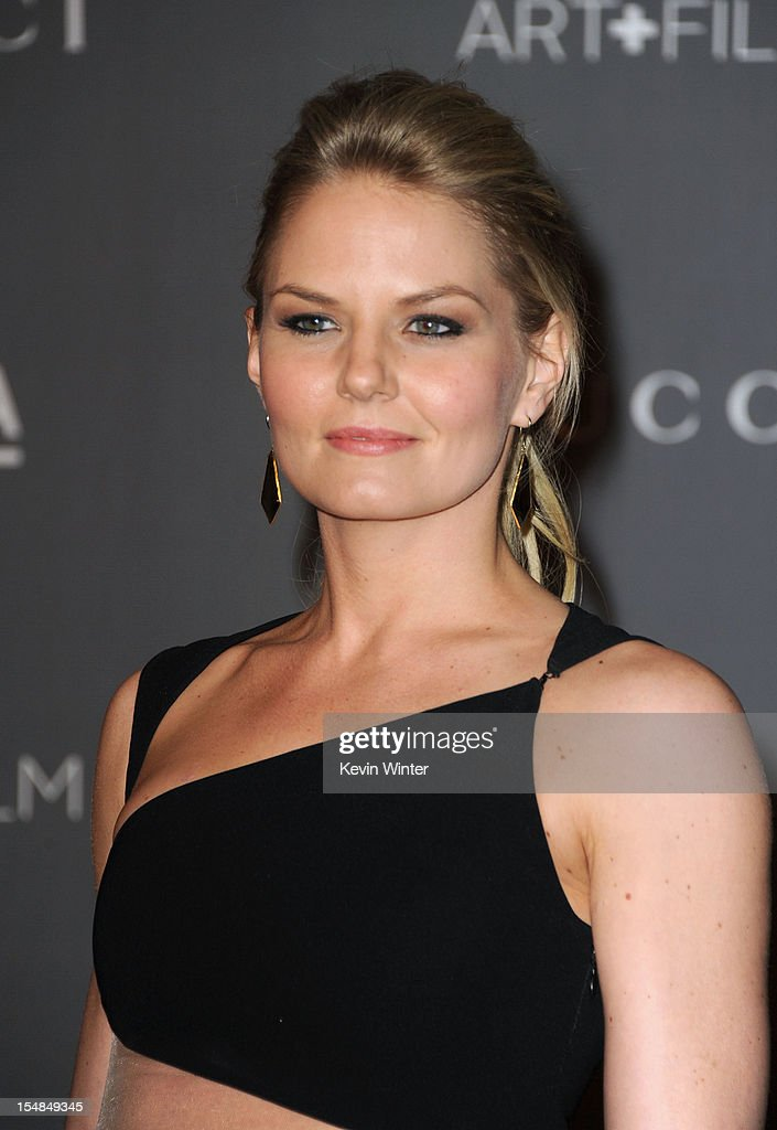 Actress <a gi-track='captionPersonalityLinkClicked' href=/galleries/search?phrase=Jennifer+Morrison&family=editorial&specificpeople=233495 ng-click='$event.stopPropagation()'>Jennifer Morrison</a> arrives at LACMA 2012 Art + Film Gala at LACMA on October 27, 2012 in Los Angeles, California.