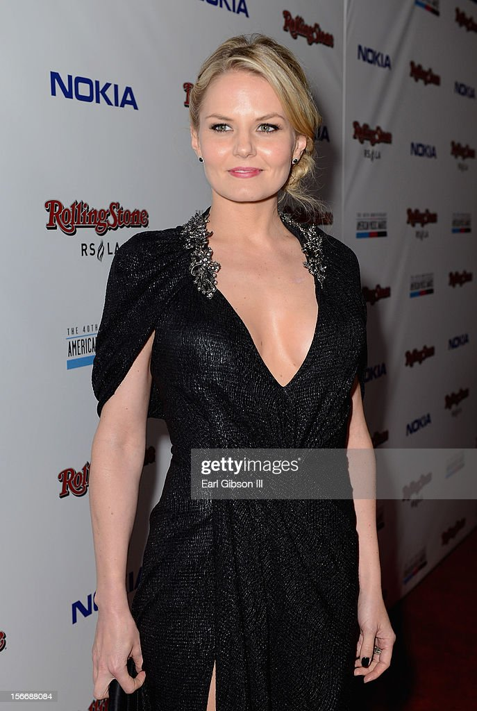 Actress <a gi-track='captionPersonalityLinkClicked' href=/galleries/search?phrase=Jennifer+Morrison&family=editorial&specificpeople=233495 ng-click='$event.stopPropagation()'>Jennifer Morrison</a> arrives at Rolling Stone Magazine Official 2012 American Music Awards VIP After Party presented by Nokia and Rdio at Rolling Stone Restaurant And Lounge on November 18, 2012 in Los Angeles, California.
