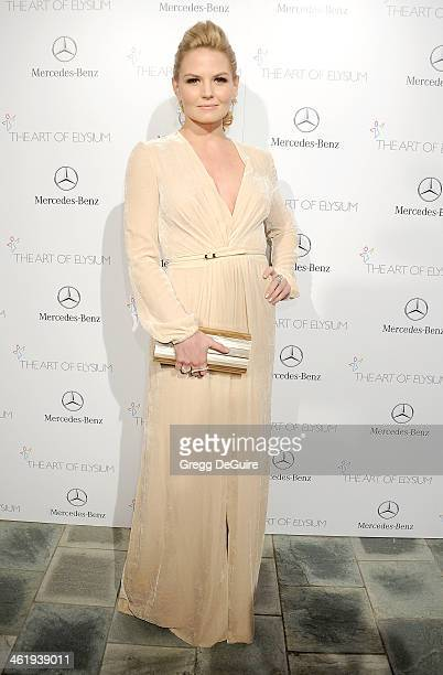 Actress Jennifer Morrison arrives at The Art of Elysium's 7th Annual HEAVEN Gala at the Guerin Pavilion at the Skirball Cultural Center on January 11...