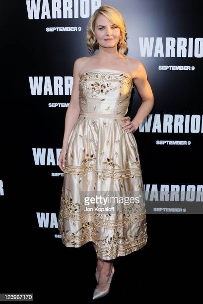 Actress Jennifer Morrison arrives at the Los Angeles Premiere 'Warrior' at ArcLight Hollywood on September 6 2011 in Hollywood California