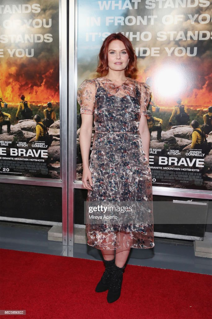 Actress Jennifer Morrison attends 'Only The Brave' New York screening at iPic Theater on October 17, 2017 in New York City.