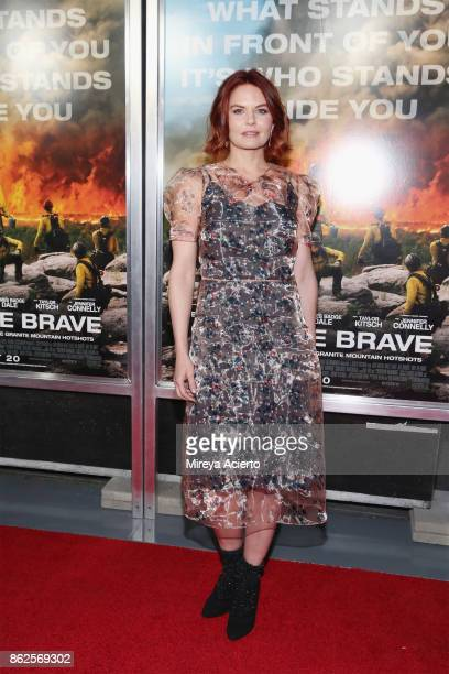 Actress Jennifer Morrison attends 'Only The Brave' New York screening at iPic Theater on October 17 2017 in New York City