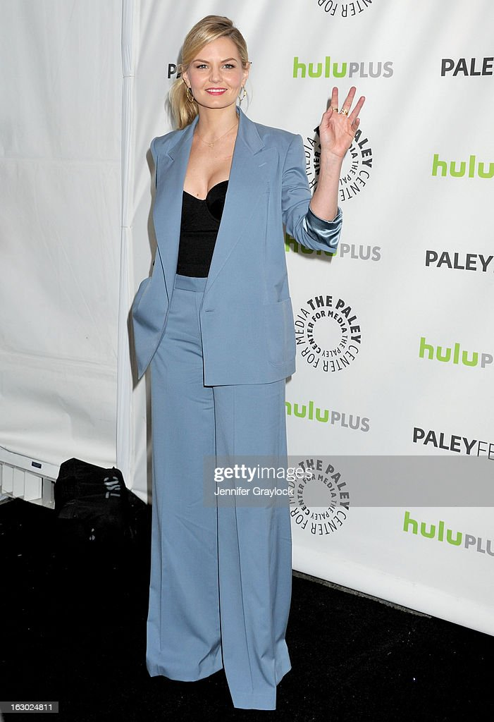 Actress <a gi-track='captionPersonalityLinkClicked' href=/galleries/search?phrase=Jennifer+Morrison&family=editorial&specificpeople=233495 ng-click='$event.stopPropagation()'>Jennifer Morrison</a> attends the 30th Annual PaleyFest: The William S. Paley Television Festival honors 'Once Upon A Time' at Saban Theatre on March 3, 2013 in Beverly Hills, California.