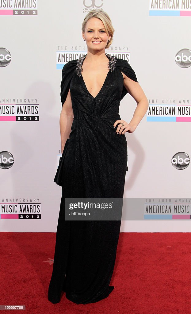 Actress Jennifer Morrison attends the 40th Anniversary American Music Awards held at Nokia Theatre L.A. Live on November 18, 2012 in Los Angeles, California.