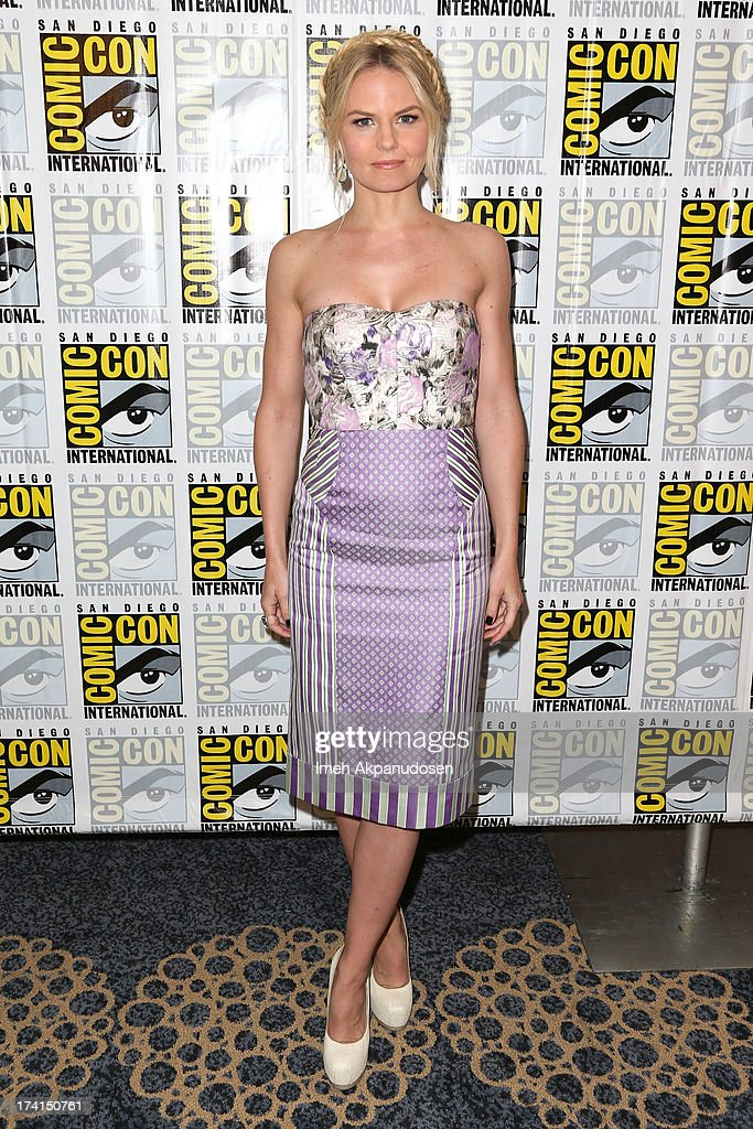 Actress Jennifer Morrison attends the 'Once Upon A Time' press line during Comic-Con International 2013 at the Hilton San Diego Bayfront Hotel on July 20, 2013 in San Diego, California.