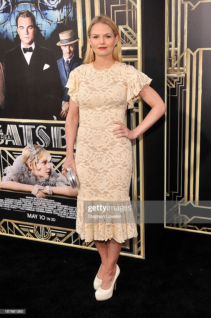 Actress <a gi-track='captionPersonalityLinkClicked' href=/galleries/search?phrase=Jennifer+Morrison&family=editorial&specificpeople=233495 ng-click='$event.stopPropagation()'>Jennifer Morrison</a> attends the 'The Great Gatsby' world premiere at Avery Fisher Hall at Lincoln Center for the Performing Arts on May 1, 2013 in New York City.