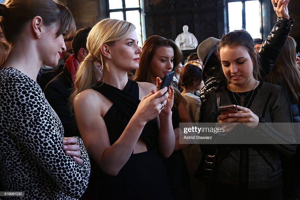Actress Jennifer Morrison (Center) attends the TRESemme at Mara Hoffman A/W16 Presentation at High Line Hotel, The Refectory on February 13, 2016 in New York City.